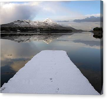 Footprints Canvas Print by Paul  Mealey