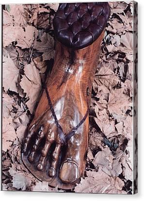 Footstool Canvas Print by Lionel Larkin
