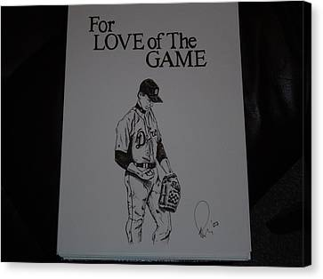 For Love Of The Game Canvas Print by Raymond Nash