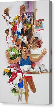 For Love Of The Games Canvas Print by Chuck Hamrick