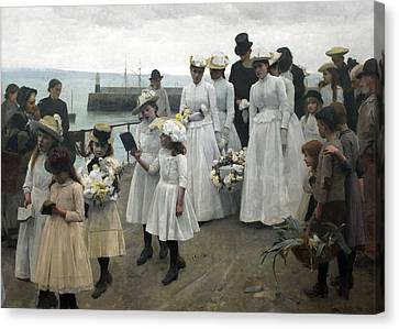 For Of Such Is The Kingdom Of Heaven Canvas Print by Frank Bramley