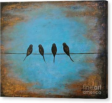 For The Birds Canvas Print by Nancy Quiaoit