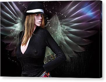 For The Demon Lurked Under The Angel In Me .... Canvas Print by Bob Kramer