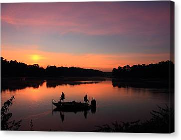 For The Love Of Fishing 2 Canvas Print by Reid Callaway