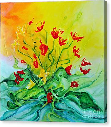 Canvas Print featuring the painting For You by Teresa Wegrzyn