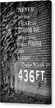 Negro Leagues Canvas Print - Forbes Field - Inspirational Quote by Stephen Stookey