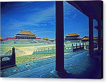 Forbidden City Porch Canvas Print by Dennis Cox ChinaStock