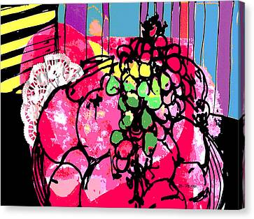 Forbidden Fruit Canvas Print by Betty Pehme