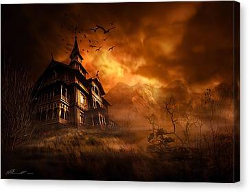 Danger Canvas Print - Forbidden Mansion by Svetlana Sewell