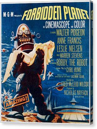 Forbidden Planet, Left Robby The Robot Canvas Print