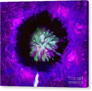 Floral Digital Art Canvas Print - Forbidden Wish by Krissy Katsimbras