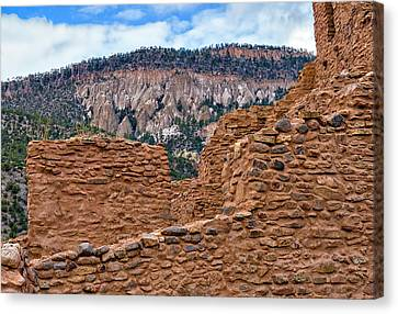 Canvas Print featuring the photograph Forbidding Cliffs by Alan Toepfer