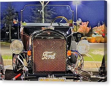 Ford Black Hot Rod Old School Canvas Print by Pictures HDR