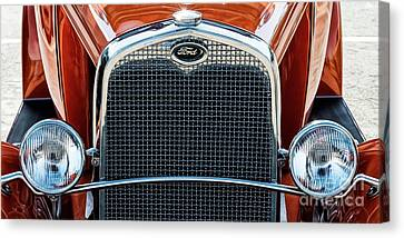 Canvas Print featuring the photograph Ford Coupe by Brad Allen Fine Art