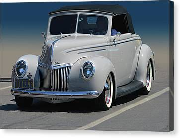 Canvas Print featuring the photograph Ford Deluxe Convertible by Bill Dutting