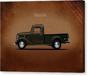 Ford Deluxe Pickup 1937 Canvas Print by Mark Rogan