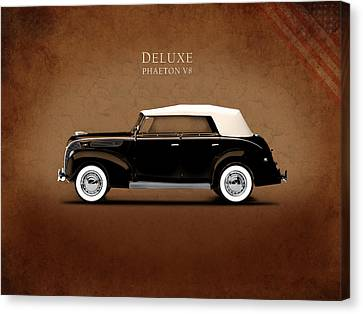 Ford V8 Canvas Print - Ford Deluxe V8 1938 by Mark Rogan