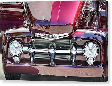 Canvas Print featuring the photograph Ford Detail by Bill Dutting