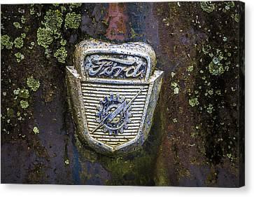 Ford Emblem Canvas Print by Debra and Dave Vanderlaan