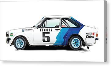 Ford Escort Canvas Print