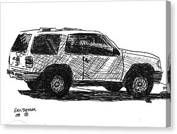 Ford Explorer Canvas Print by Eric Tressler