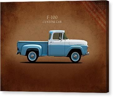 Ford F-100 1958 Canvas Print by Mark Rogan