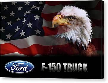 Ford F-150 Truck Patriot Canvas Print by Daniel Hagerman