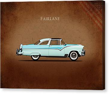 Ford Fairlane 1955 Canvas Print by Mark Rogan