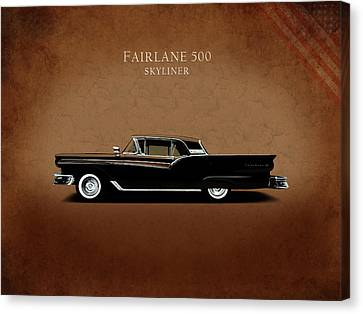 Ford Fairlane 500 1957 Canvas Print by Mark Rogan
