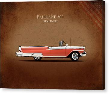Ford Fairlane 500 1959 Canvas Print by Mark Rogan