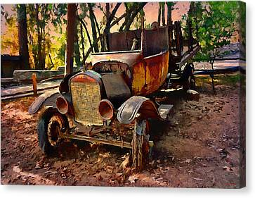 Ford Flatbed Truck Canvas Print