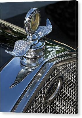 Ford Hood Emblem Canvas Print by Peter Piatt