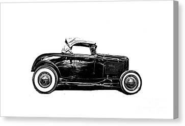 Hot Rod Canvas Print - Ford Hot Rod Tee by Edward Fielding
