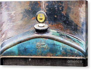 Ford Made In Usa Rat Rod Canvas Print