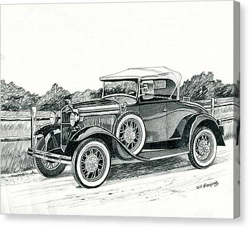 Ford Model A 1930 Canvas Print by Jeff Blazejovsky