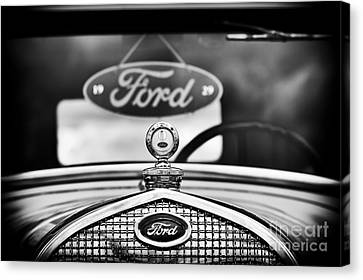 Ford Model A Monochrome Canvas Print by Tim Gainey
