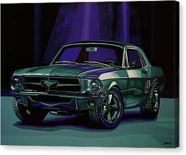 James Bond Canvas Print - Ford Mustang 1967 Painting by Paul Meijering