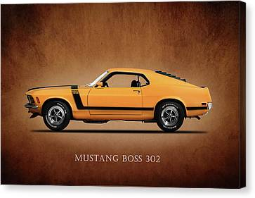 Ford Mustang Boss 302 Canvas Print by Mark Rogan