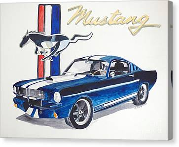 Ford Mustang Canvas Print by Eva Ason