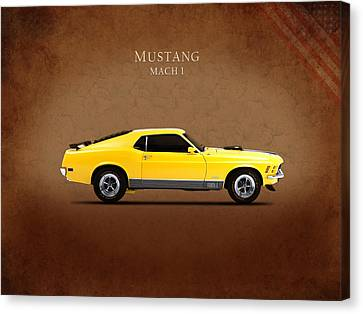 Ford Mustang Mach 1 Canvas Print by Mark Rogan