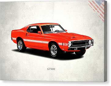 Ford Mustang Shelby Gt500 1969 Canvas Print by Mark Rogan