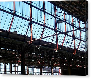 Ford Plant Canvas Print - Ford Plant Skylights by Edmund Akers