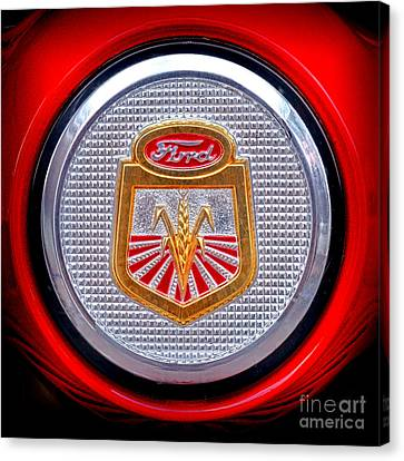 Ford Tractor Badge Canvas Print by Olivier Le Queinec