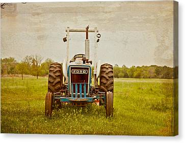 Ford Tractor Canvas Print by Toni Hopper