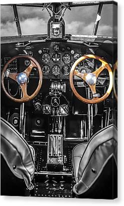Ford Trimotor Cockpit Canvas Print