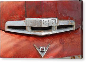 Ford V8 Emblem Canvas Print