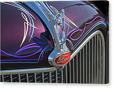 Ford V8 Hood Ornament Canvas Print