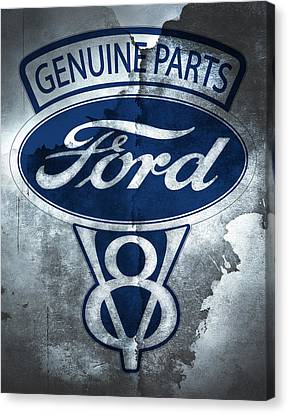 Ford V8 Canvas Print by Mark Rogan