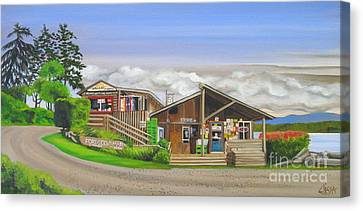 Hornby Island Canvas Print - Fords Cove  by Elissa Anthony