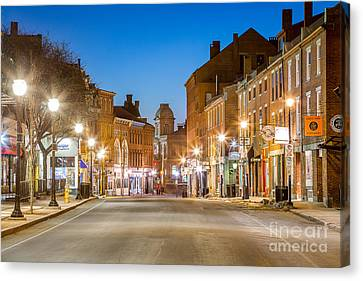 Fore Street Portland Maine Canvas Print by Benjamin Williamson